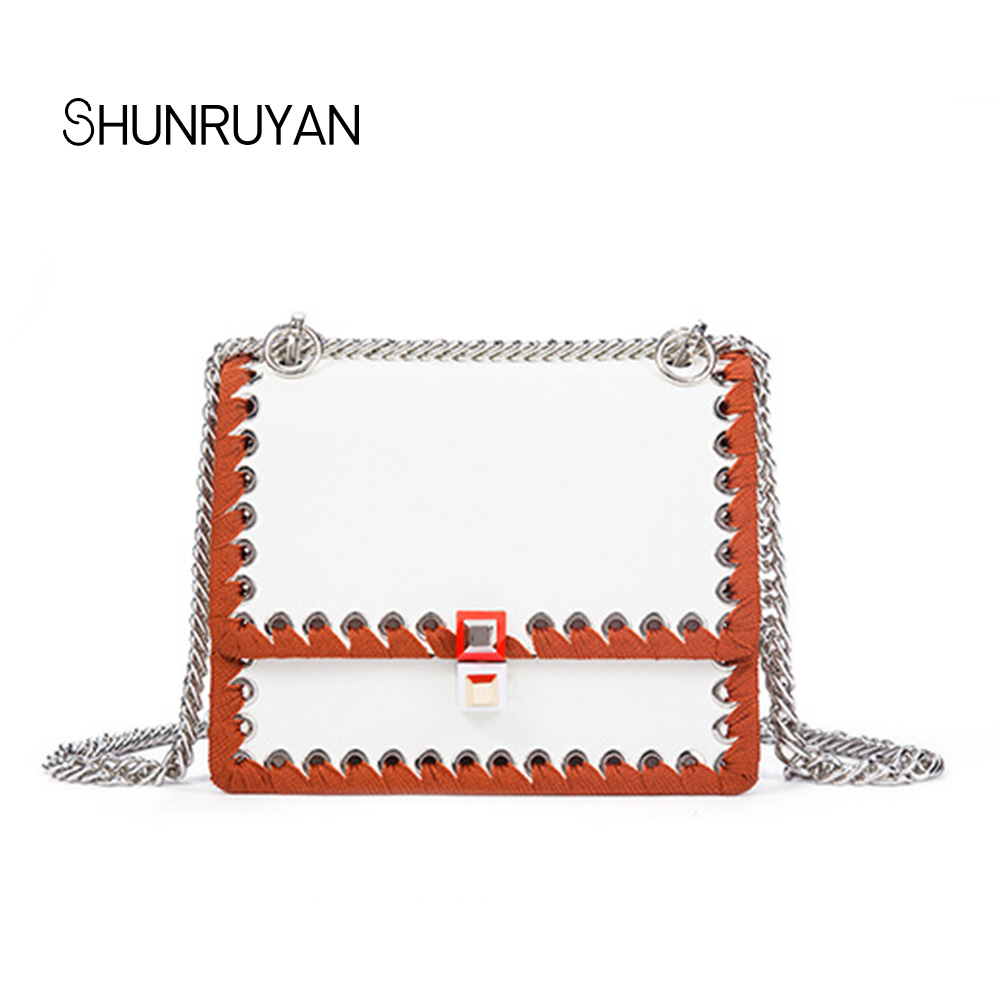 SHUNRUYAN 2018 Brand Design Genuine Leather New Vintage Fashion Casual women bag shoulder bag crossbody bag party bag shunruyan 2018 brand design genuine leather women bag crossbody bag shoulder bag chain fashion party bag