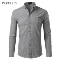 Classic Striped Men Dress Shirts 2017 Spring Autumn Casual Slim Fit Long Sleeve Button Down Mens