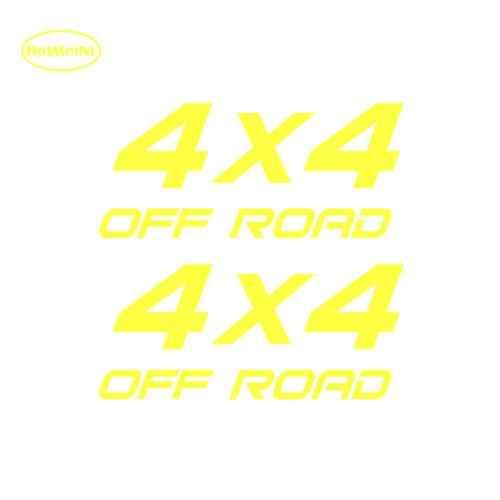 HotMeiNi 2X4X4 OFF ROAD Suv Thú Vị Vinyl Đề Can Xe Xe Nhãn Dán Nhãn Dán Xe kiểu dáng Cho Cửa Sổ Bumper máy tính xách tay Màu Đen/Bạc 16*16.4 cm