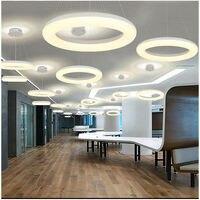 Современные светодиодные подвесные светильники для фойе одно кольцо легкий алюминиевый подвеска лампа светильник 130 Вт светодиодные лампы