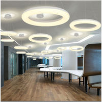 Modern Led Pendant Lights For Foyer Single Ring Light Aluminum Pendant Lamp Suspension Luminaire Light Fixture