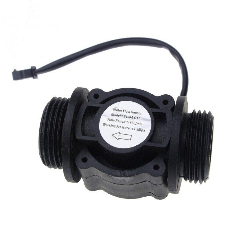 Capteur de Débit d'eau Débitmètre de Carburant Compteur D'eau Du Capteur Débitmètre D'eau Capteur Compteur Indicateur FS400A G1 DN25 1-60l/min 1.2MPA