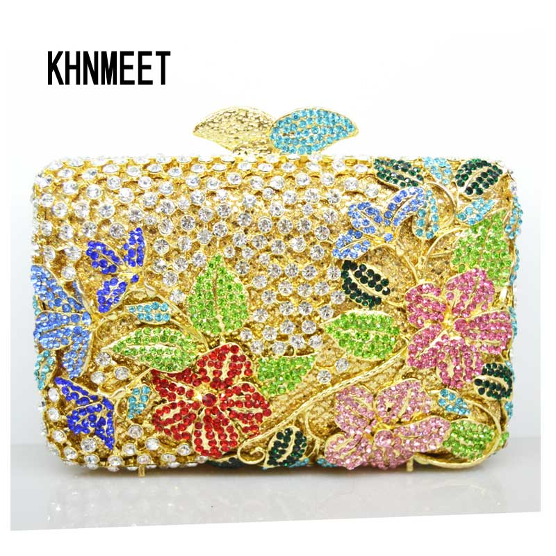 LaiSC Luxury evening bags Crystal women party purse bags Ladies wedding bridal formal clutch bags banquet bag Day Clutches SC209 luxury real new arrival day clutches diamonds flower women bag banquet crystal handbag wedding party handbags night clubs purse