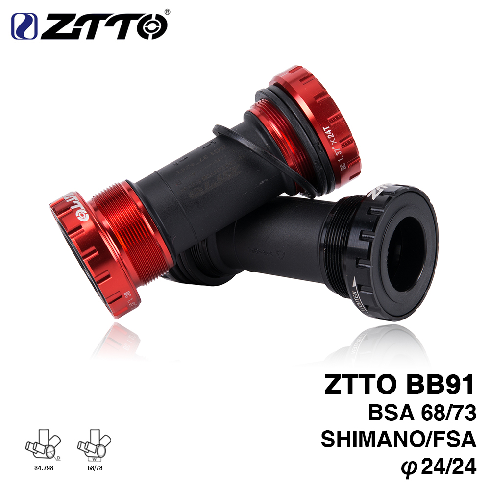 ZTTO BB91 Bearing Bottom Bracket Screw Type 68/73 mm Bicycle Axis MTB Road Bike Bottom Bracket Waterproof CNC Alloy BB ztto bsa30 bb68 bsa 68 73 mtb road bike external bearing bottom brackets for bb rotor raceface slk bb386 30mm crankset
