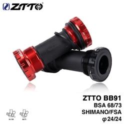 ZTTO BB91 Bearing Bottom Bracket Screw Type 68/73 mm Bicycle Axis MTB Road Bike Bottom Bracket Waterproof CNC Alloy BB