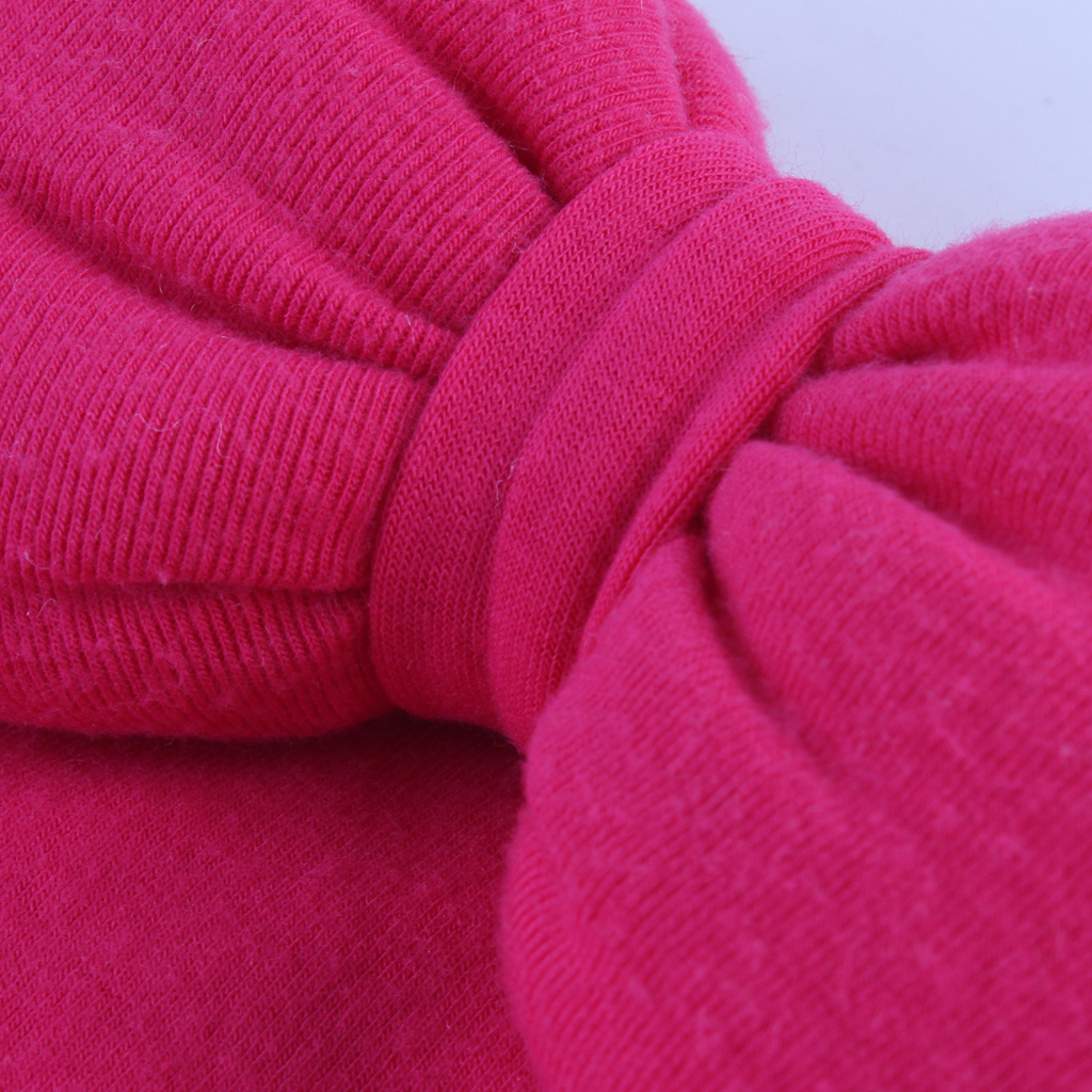Toddler Baby Infant Girls Woolen Bow Soft Stretchy Hat Beanie Kid Photo Prop