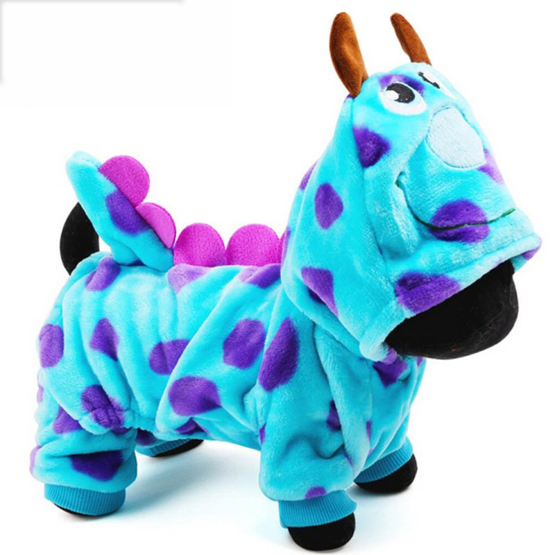 2018 Îmbrăcăminte de înaltă calitate pentru câini Îmbrăcăminte pentru animale de companie Super Drăguț Party Dress Up Îmbrăcăminte pentru câini Coat Dragon Small Small Medium dog Blue Summer Summer Girl
