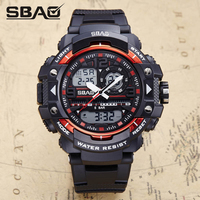 New 2017 Quartz Digital Camo Watch Men Dual Time Man Sports Watches Men Shock Military Army