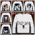Japan Anime Death Note T Shirt  Boys/men Cosplay Yamaguchi Kappei T-Shirt  Long Sleeve Cartoon Printed T-shirt YD-055