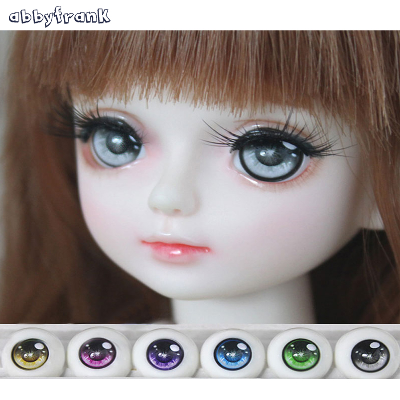 Abbyfrank Eyes BJD Doll Acrylic Eyeball Eyes 1 Pair 1/3 1/4 1/6 14mm 16mm 18mm Half Round Eyeball For Doll Accessories Kids Toys uncle 1 3 1 4 1 6 doll accessories for bjd sd bjd eyelashes for doll 1 pair tx 03