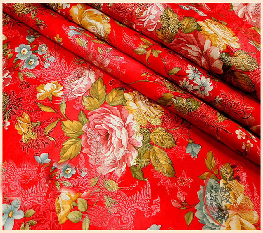 Brocade Sofa Fabric The Brick Cindy Crawford Reclining ᐊethnic Floral Jacquard Tapestry Satin Silk For Ethnic Wedding Dress Kids Clothes Dolls Upholstery 145 50cm