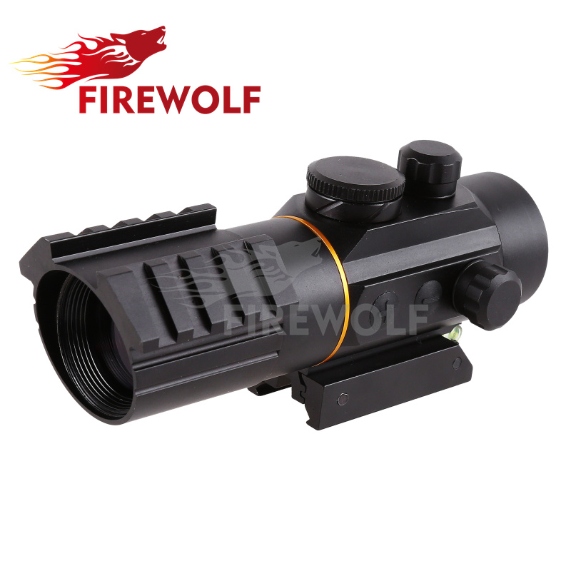 FIRE WOLF Tactical 3x42 Red Dot Sniper Scope Airsoft Sight Riflescope Night Vision Rifle Scope for Hunting Shooting trijicon mro airsoft holographic red dot sight shotgun scope hunting riflescope illuminated sniper gear for tactical rifle scope