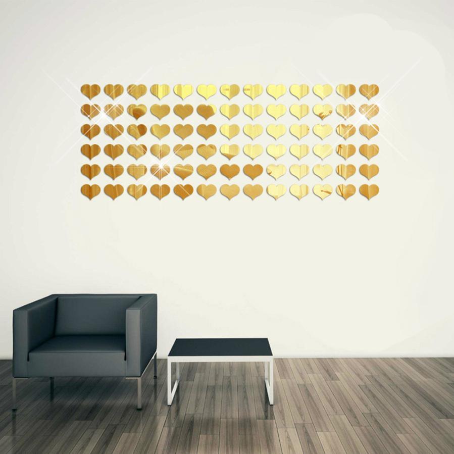8Pcs 3D Mirror Square Acrylic Vinyl Removable Wall Sticker font b Home b font Decor Art
