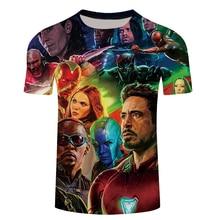 2018 Marvel Avengers 3 Iron Man 3D Print T-shirt Men/Women Superhero T shirt fitness Clothing Man's Tops Tee Plus size S-6XL