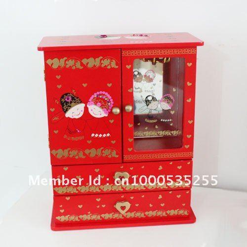 Custom Style Wood Wedding Souvenir Gift Jewelry Case Storage Box ...