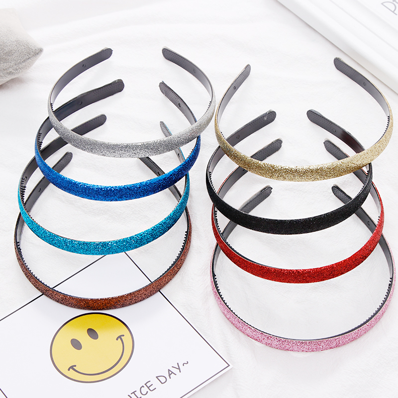 1PC New Women Girls Cute Glitter Scrub Candy Colors Hairbands Headband Hair Holder Headwear Hair Bands Fashion Hair Accessories