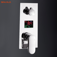 Digital Wall Mounted 2 Or 3 Way Shower Mixer Valve Control With Display Bath Shower Panel