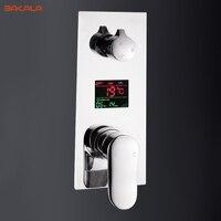 Treo tường kỹ thuật số gắn 2 hoặc 3 way hoa sen mixer van điều khiển với màn hình hiển thị tắm vòi hoa sen panel Thông Minh vòi hoa sen mixer tắm