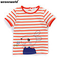 WEONEWORLD 2017 Summer New Kids Toddler Clothes Girls Cotton Striped Short Sleeve Shirts Casual Girl T-shirt Blouse Kids Tops
