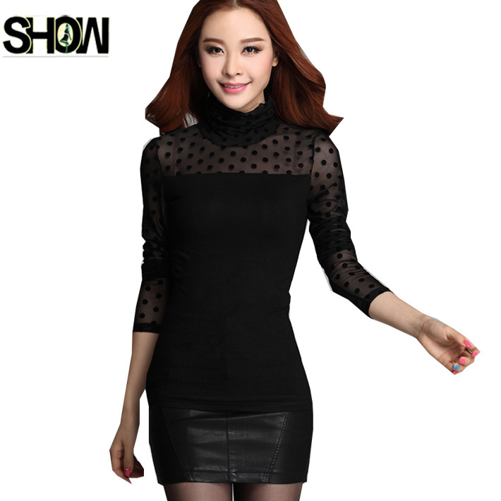 Compare Prices on Sheer Black Long Sleeve Shirt- Online Shopping ...