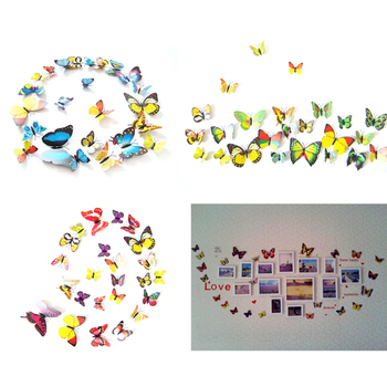 12Pcs/lot 3D Butterflies  1