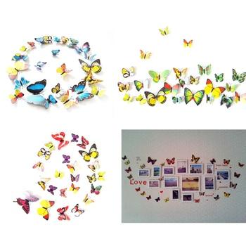 12Pcs/lot 3D Butterflies  1