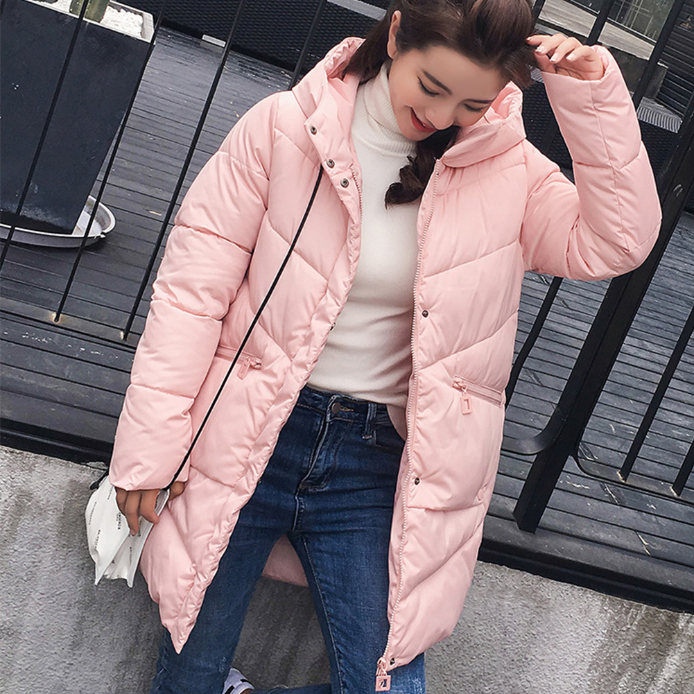 2018 Nieuwe Jas Jas Winter Vrouwen Lange Warme Parka Hooded Losse Bovenkleding Koreaanse Jassen Voor Meisjes Mode Jas Vrouw Winter Jas