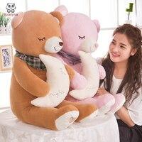 BOLAFYNIA Children Plush Stuffed Toy Japanese Sleeping Moon Bear Baby Kids Plush Toy For Christmas Birthday