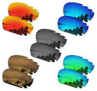 SmartVLT 5 Pairs Polarized Sunglasses Replacement Lenses for Oakley Jawbone Vented - 5 Colors