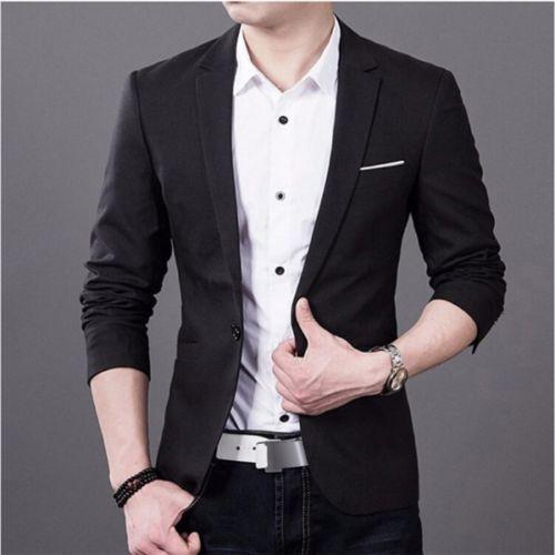 Casual Slim Fit One Button Suit Blazer 1