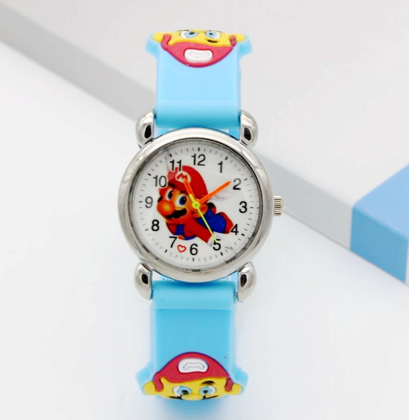 3D Cartoon Super mario doll kids Watch Children Ki