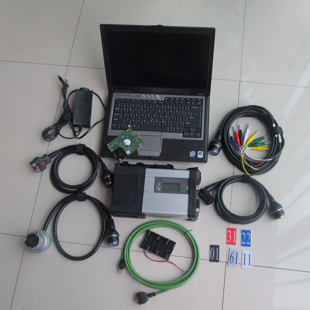 wifi mb star c5 hdd SD Conenct with laptop D630 font b diagnostic b font PC