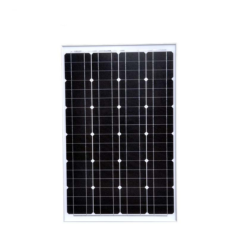 Solar Panel Car 12v 60w Solar Charge Controller 12v 24v 10A LED Waterproof Solar Battery Charger Fan Camping Car LM in Solar Cells from Consumer Electronics