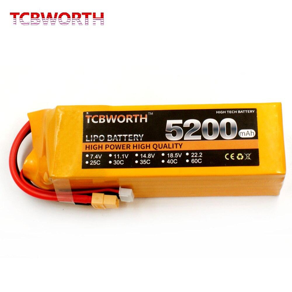 TCBWORTH 3 S RC Drone LiPo batterie 3 S 11.1 V 5200 mAh 40C pour RC avion hélicoptère Quadrotor voiture RC LiPo Batteria 3 S RC batterie