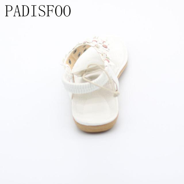 POADISFOO 2017 New Fashion Summer Bohemia Style Flat Shoess Shoes Clip  Toe Flowers  Sandal .DFGD-668