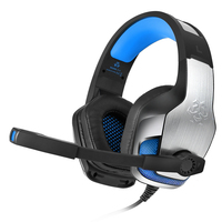 Hunterspider V4 Gaming Headset Deep Bass Stereo Computer Game Headphones With Microphone LED Light PC Professional