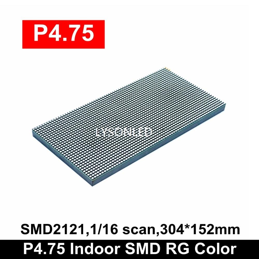 Wholesale Price Indoor P4.75 SMD RG Dual Color Led Panel Module 304x152mm , Replace F3.75 RG Dot Matrix LED Module 64x32 Pixels
