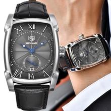 BENYAR 2018 Fashion Square Quartz Watch Men Watches Top Brand Luxury Wrist Watch Male Clock For Men Hodinky Relogio Masculino цена и фото