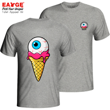Wow I Really Love This Ice Eyeball T Shirt Active Brand Casual T-shirt Print Hip Hop Style Unisex Cotton Gray Double Sided Tee
