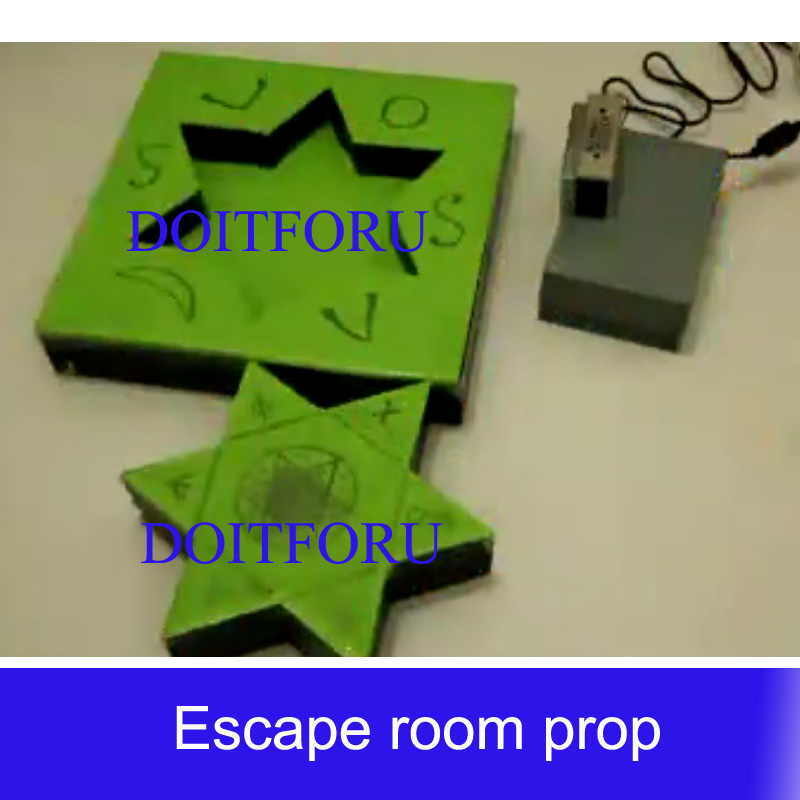 Straightforward Electromagnetic Accessg Sign Symbol Prop Place The Missing Star Back Open 12v Magnetic Lock Escape Room Access Control Kits