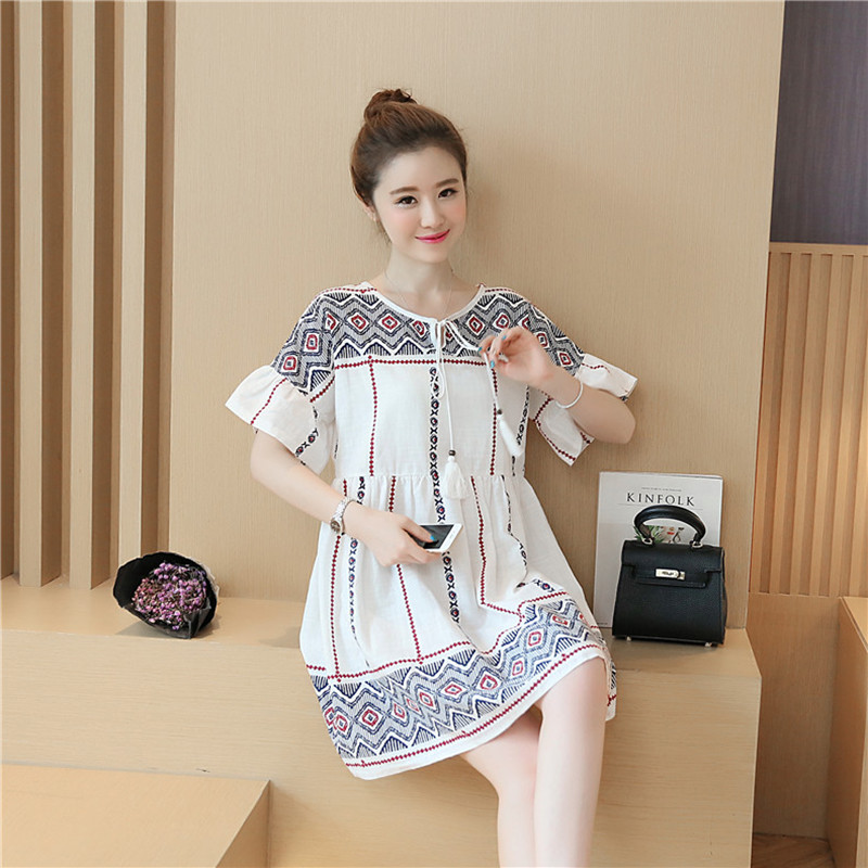 7018cce9601 Elegant Maternity Clothes For Pregnant Women Summer Dress Embarazada Cute Pregnant  Clothes Maternity Tunic Wear Big Sizes