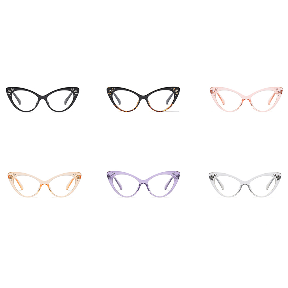 5c98939f7b1f Peekaboo rhinestone glasses frame women optical sexy cat eye glasses frames  for women black purple pink brown-in Eyewear Frames from Apparel  Accessories on ...