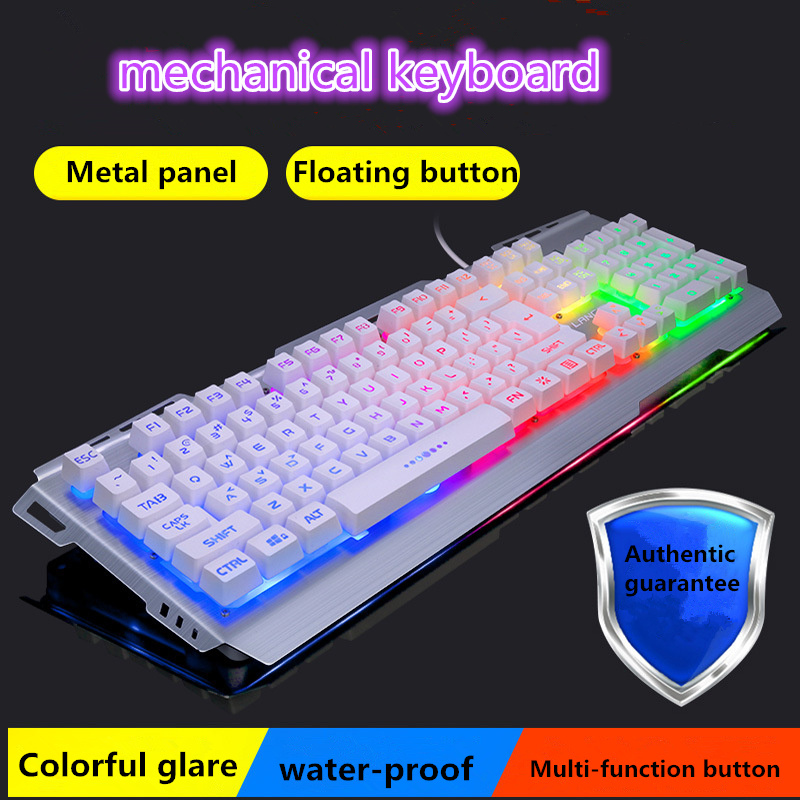 Mechanical wired keyboard desktop computer notebook office home games wired backlight waterproof keyboard катушка безынерционная salmo diamond feeder 6 30fd