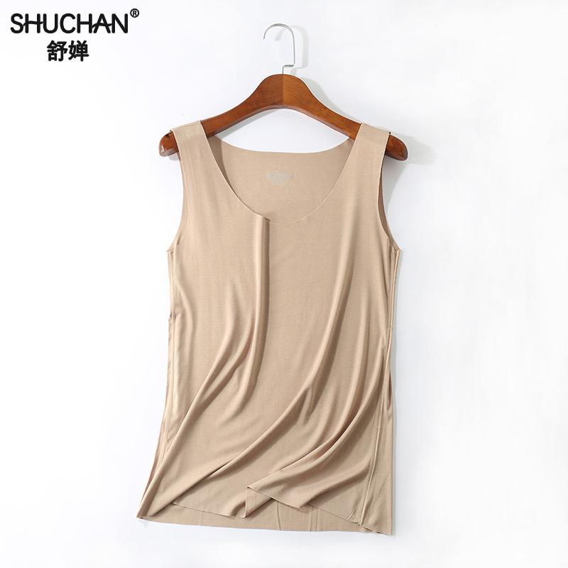 Shuchan Loose Cotton Tank Tops Solid Casual Plus Size Summer Women Basic Sexy Sleeveless