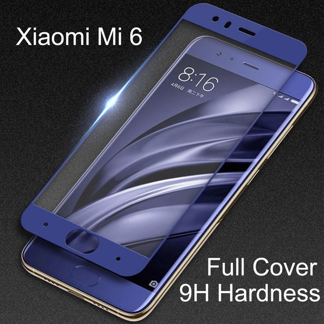 9H твердость защитное стекло на xiaomi mi 6 / стекло на сяоми ми 6 Full Screen Protector Закаленное стекло на Xiaomi Mi 6 xiaomi mi6 пленка разных Xiomi mi 6 цветов сяоми 6 ми