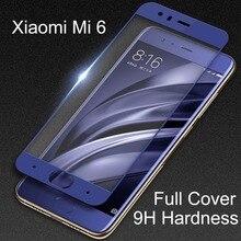 Verre protecteur de dureté 9H pour Xiaomi Mi 6 Film de verre trempé protecteur décran complet pour xiaomi mi6 xiomi mi 6 plusieurs couleurs