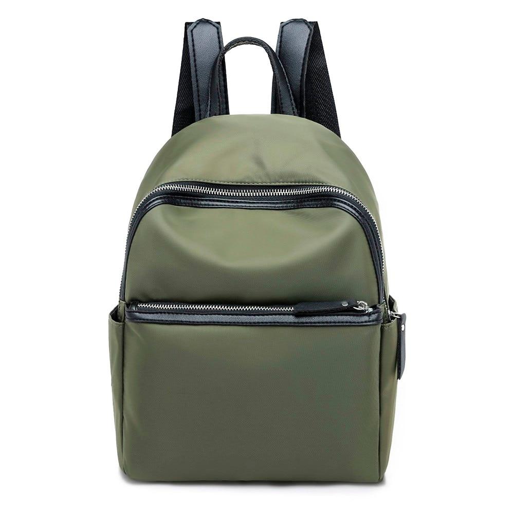 Women Backpack High Quality Nylon Leather Backpacks For Teenage Girls Female School Shoulder Circular Bag Mochila 18sep #1