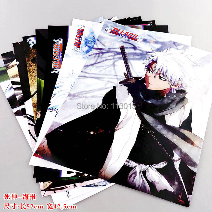Anime Bleach Posters Paintings Wall pictures 8 pcs/lot 2 sizes 58x42CM included 8 different designs High quality Embossed