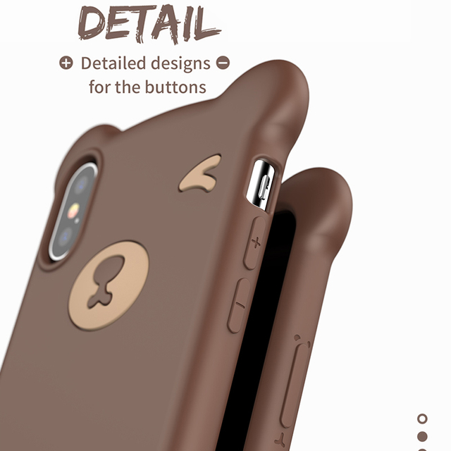Baseus iPhone XR XS Max Bear Cute Soft Silicone Protective Back Case Cover