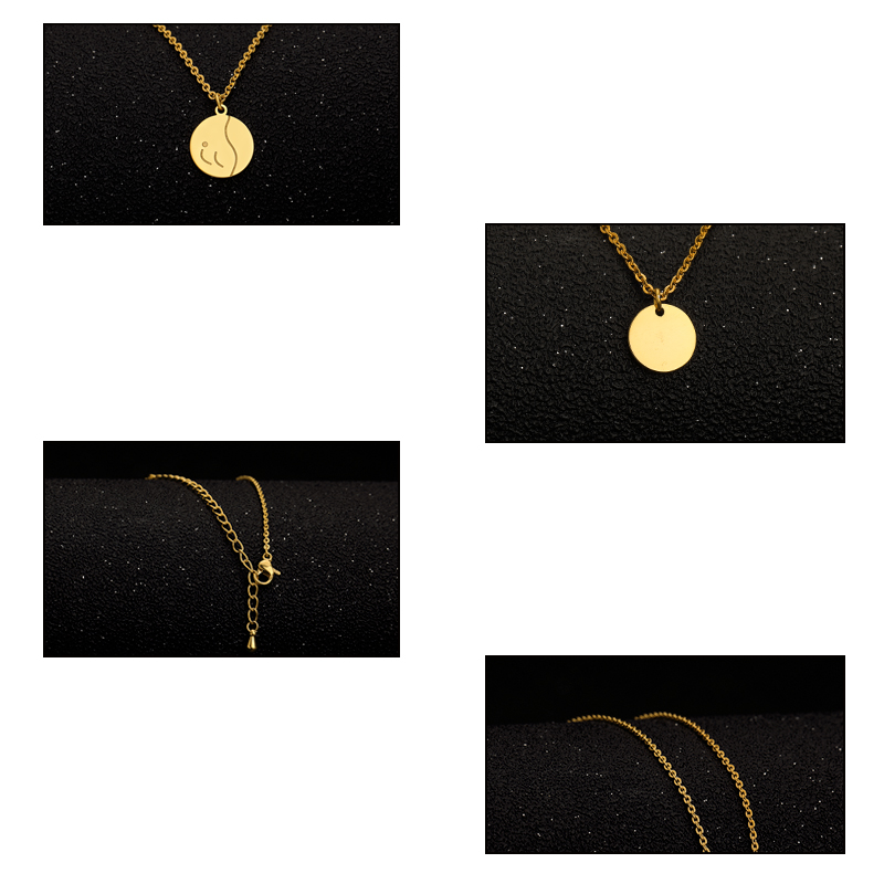 DIY Body Necklace Fashion Double Bohemian Round Alloy Pendant Necklace Retro Layered Jewelry Party Gift Jewelry 2019 Women 39 s in Chain Necklaces from Jewelry amp Accessories